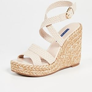 Stuart Weitzman size 6 Espadrilles wedge sandals